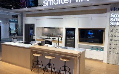 MCKB Design's Haier Appliances Kitchen Displays at CES Las Vegas 2019