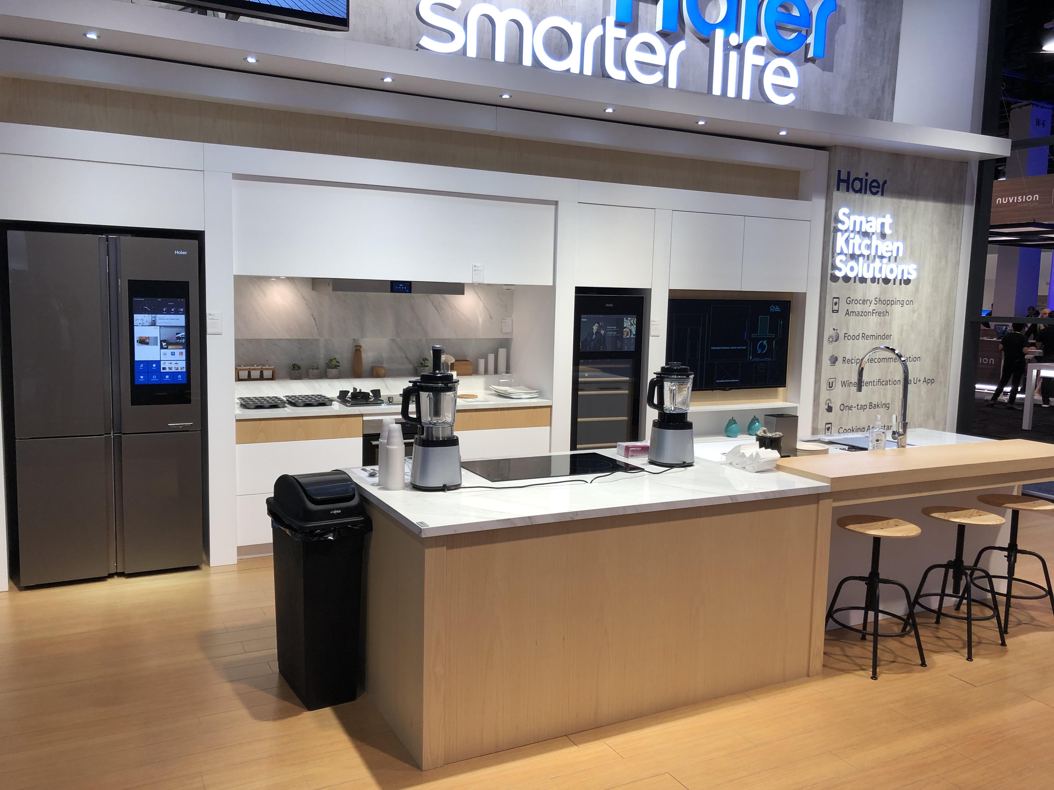 Mckb Design S Haier Appliances Kitchen Displays At Ces Las